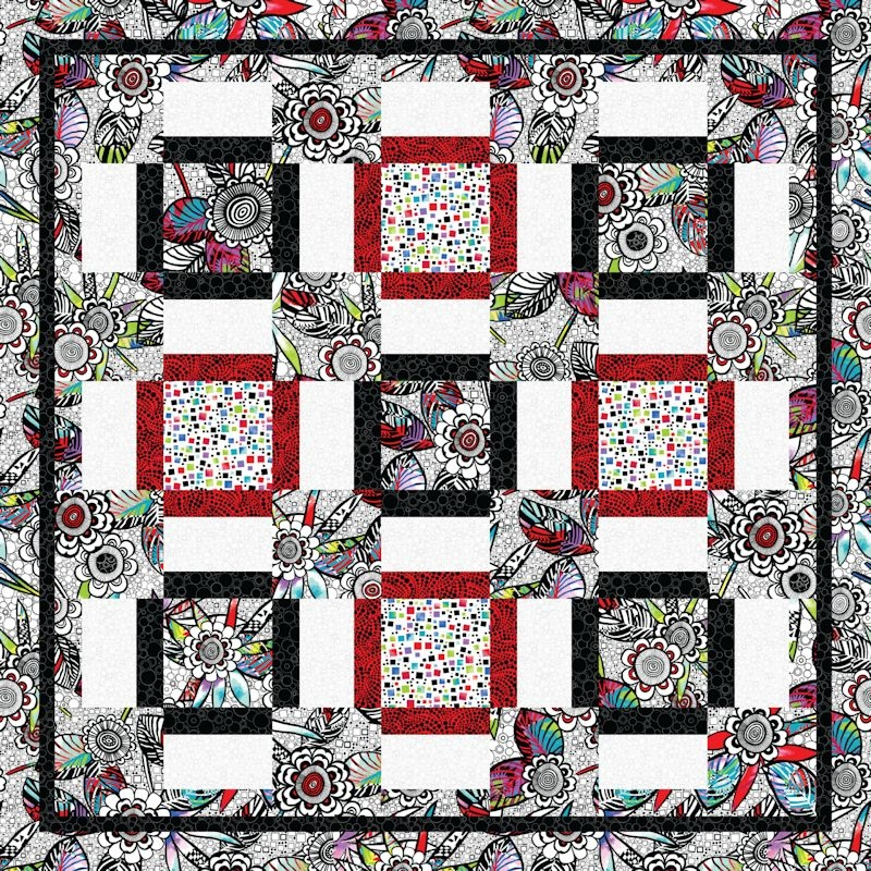 love that print Large Print Fabric Quilt Patterns
