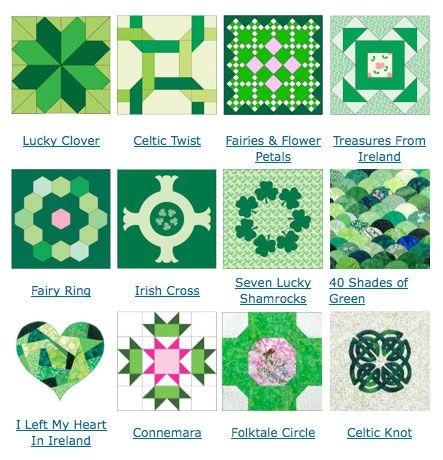 Modern 12 free quilt block designs for irish quilt patterns irish 9 Modern Celtic Quilting Patterns