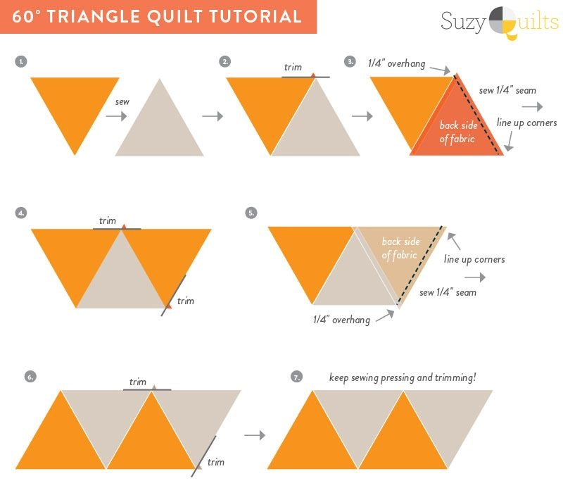 Modern 4 free flannel quilt diy ideas triangle quilt tutorials 11 Cozy Triangle Quilts 60 Degrees