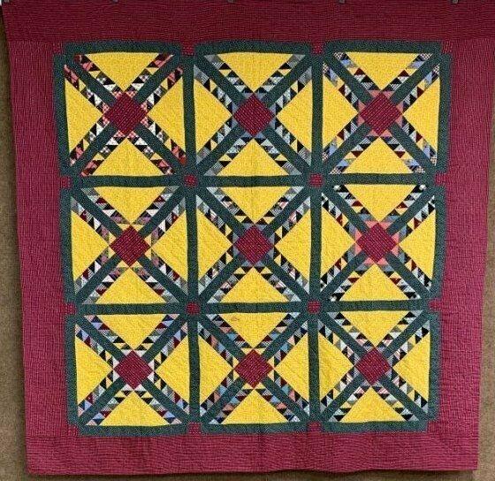 Modern amazing pattern c 1890 1900 wild goose chase quilt antique Elegant Wild Goose Chase Quilt Pattern Inspirations