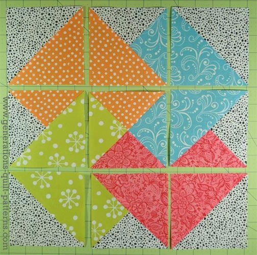Modern card trick quilt block from our free quilt block pattern 10 Elegant Card Trick Quilt Block Pattern Gallery