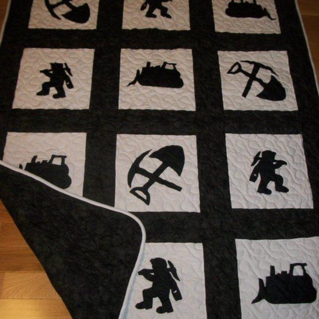 Modern coal miners quilt quilt patterns coal miners quilts 9 Cool Coal Miner Quilt Pattern Inspirations