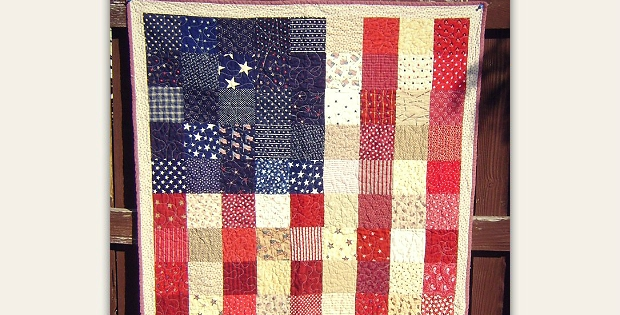 Modern display this beautiful flag quilt any time of the year Modern American Flag Quilt Pattern