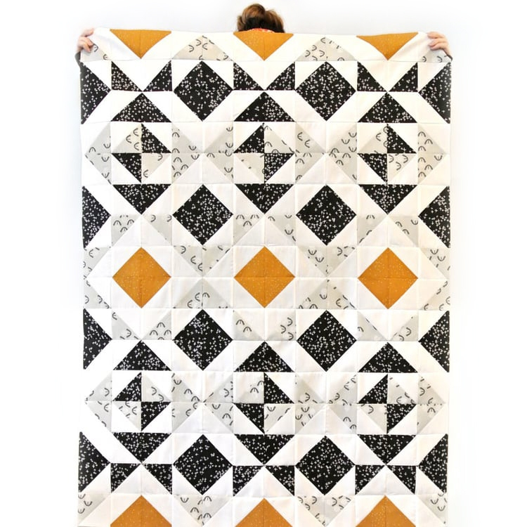Modern easy half square triangles tutorial video suzy quilts Interesting Half Square Triangle Quilt Block Patterns Gallery