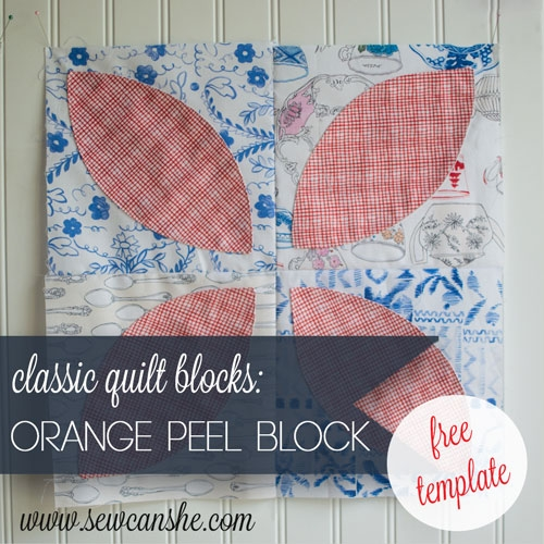 Modern easy quilt block tutorial the orange peel quilt block with Modern Orange Peel Quilt Block Pattern Gallery
