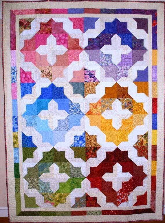 Modern flying colors quilt pattern lorraine cocker this quilt is gorgeous perfect for layer cakes and scrap packs colour easy beginner pattern 10 Modern Colorful Quilt Patterns Inspirations