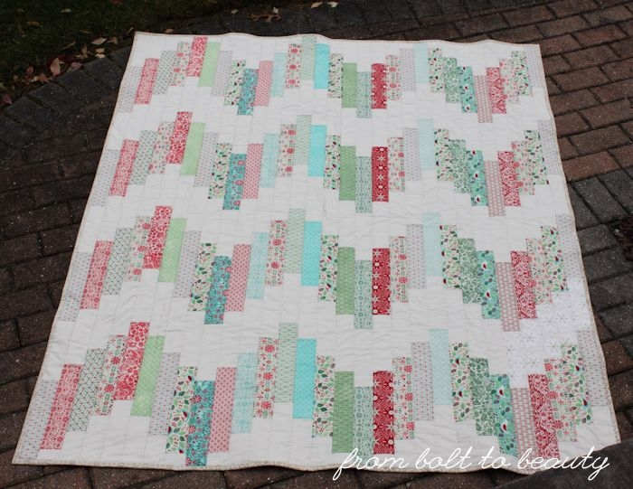 Modern from bolt to beauty tutorial ridiculously easy jelly roll 11 Stylish Jelly Roll Quilt Patterns Easy Gallery