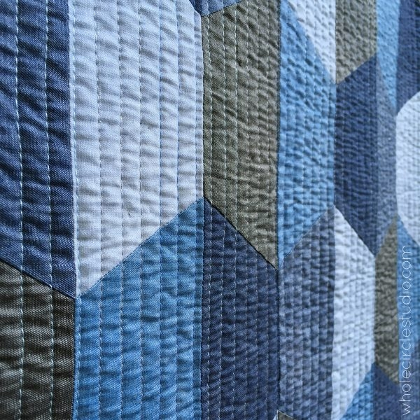 Modern hexie blues quilt pattern pdf download wholecirclestudio New Monochromatic Quilt Patterns Inspirations