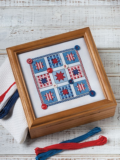 Modern july quilt cross stitch pattern New Quilt Cross Stitch Patterns Gallery
