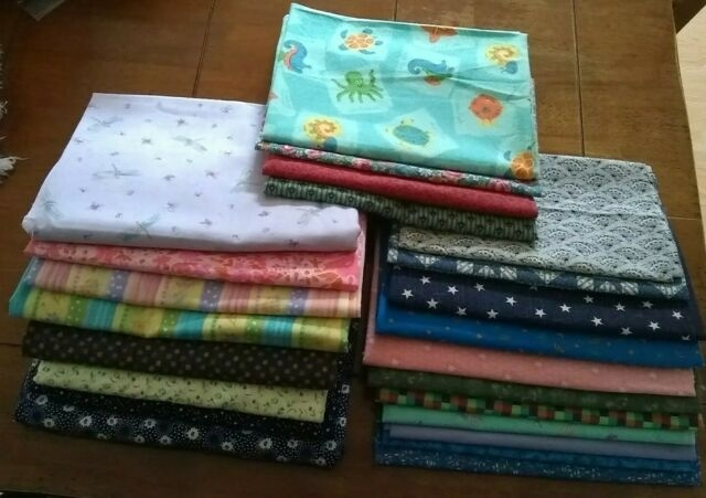 Modern large fabric lot vintage quilting sewing craft 16 yds cotton prints floral moda 9 Beautiful Vintage Quilting Fabrics For Sale Gallery