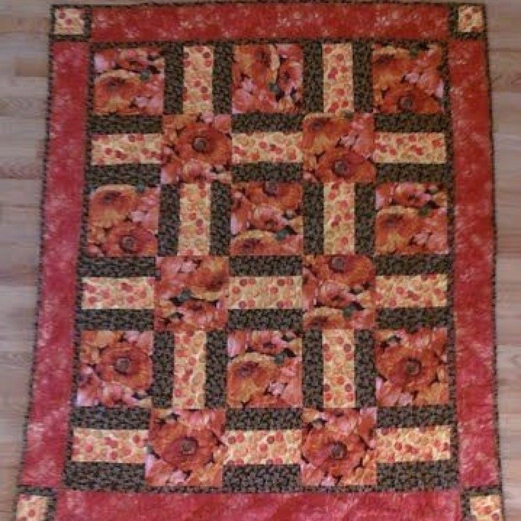 Modern large print quilts floral quilt patterns fabric panel Large Print Fabric Quilt Patterns