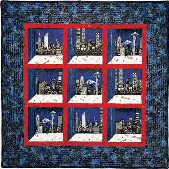 Modern millennium cityscapes attic windows quilt favecrafts 10 Stylish Attic Windows Quilt Patterns Inspirations
