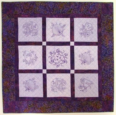 Modern oriental fan quilt blocks 9 Modern Embroidered Quilt Patterns Inspirations