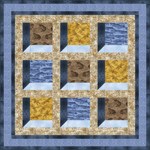 Modern quilt inspiration free pattern day attic windows quilts 11 Stylish Attic Window Quilt Patterns