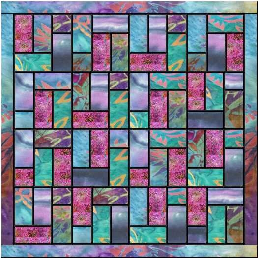 Modern quilt inspiration free pattern day stained glass quilts 11   Stained Glass Window Quilt Pattern Gallery