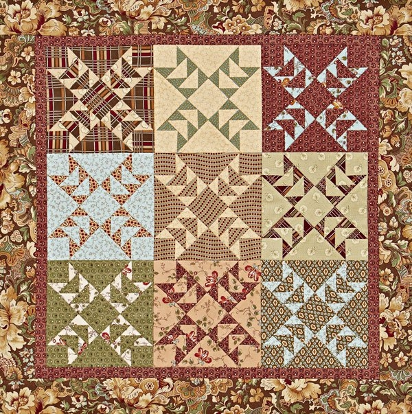 Modern quilts made of civil war reproduction fabrics 9 Stylish Reproduction Quilt Patterns Inspirations