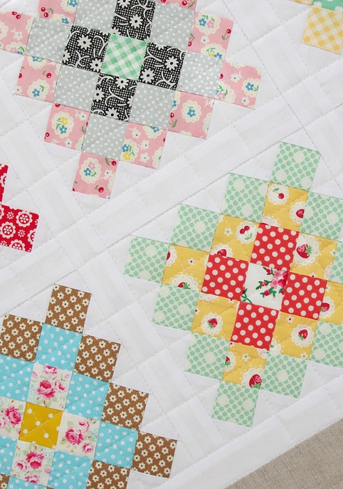 Modern red pepper quilts a great granny square quilt 10 Cozy Granny Square Quilt Block Pattern Gallery