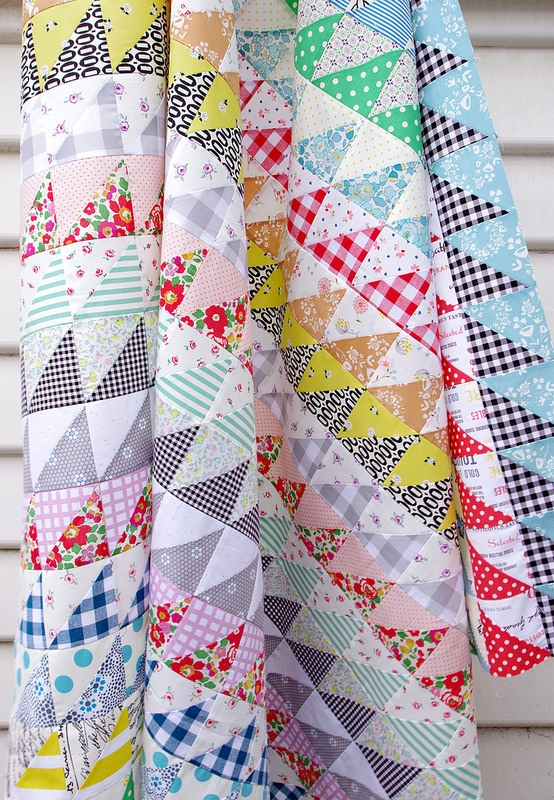 Modern red pepper quilts half square triangles galore a quilt in 10 Beautiful Half Triangle Quilt Inspirations