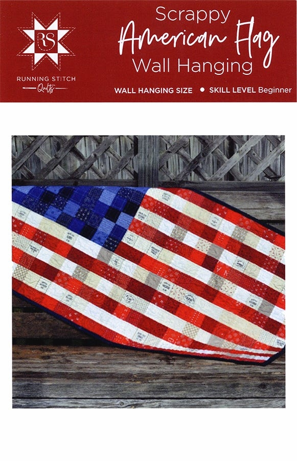 Modern scrappy american flag quilt pattern running stitch quilts rsq 100 Modern American Flag Quilt Pattern