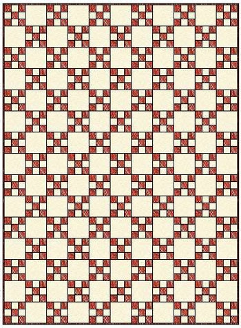 Modern single irish chain quilt patterns and blocks 10 Modern Irish Chain Quilt Patterns Inspirations