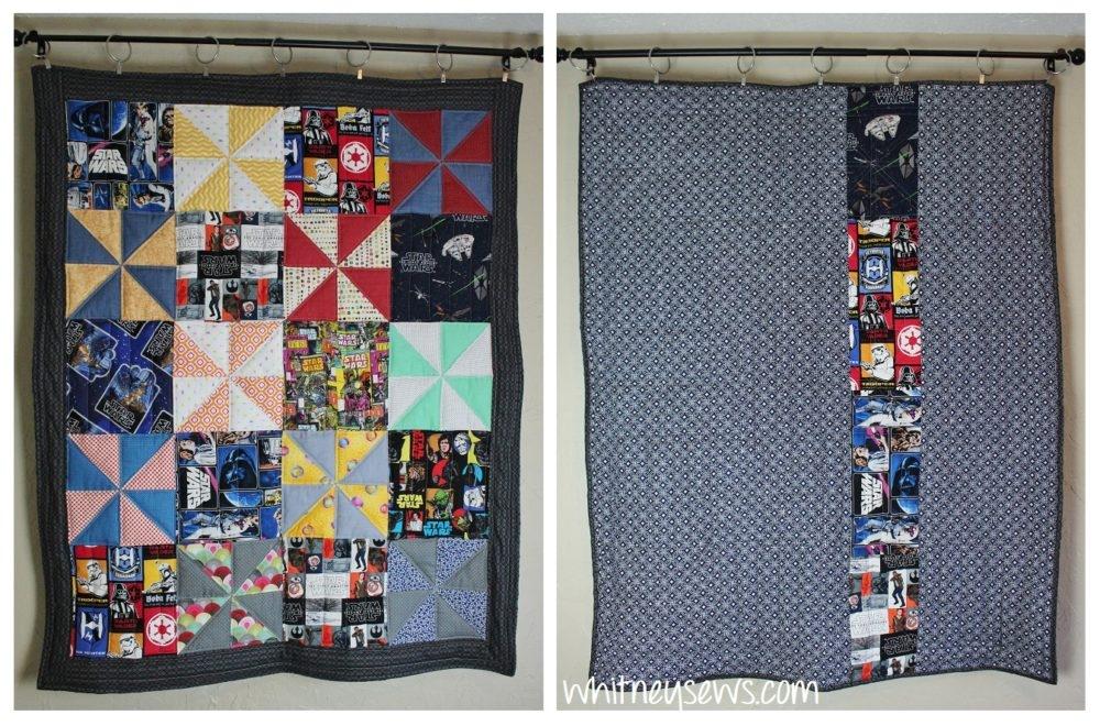 Modern star wars quilt diy inspiration whitney sews 9   Unique Star Wars Quilting Fabric Inspiration Gallery