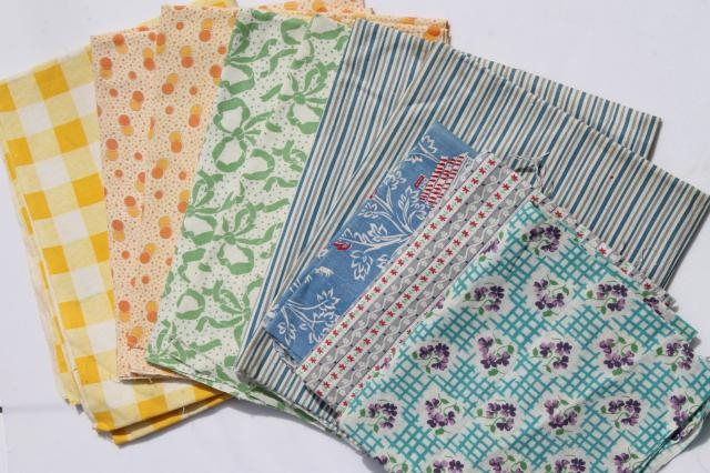 Modern vintage cotton print feedsack prints fabric lot feed sack 11 Interesting Vintage Quilt Fabric Gallery