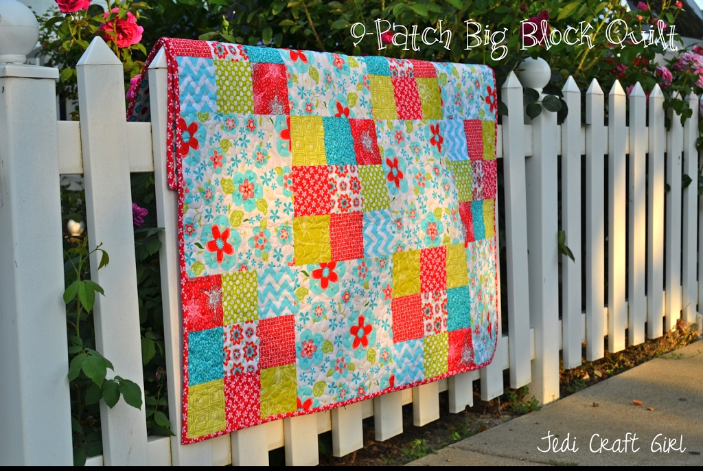 New 9 patch big block quilt tutorial 11 Unique Block In A Block Quilt Pattern