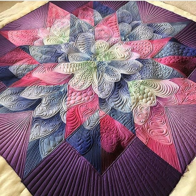 New another beautiful quilt designed cmdesign44 and quilted 9 Unique Patterns For Quilting Quilts