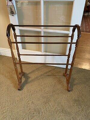 New antique vintage oak quilt blanket rack stand ebay Elegant Vintage Quilt Rack