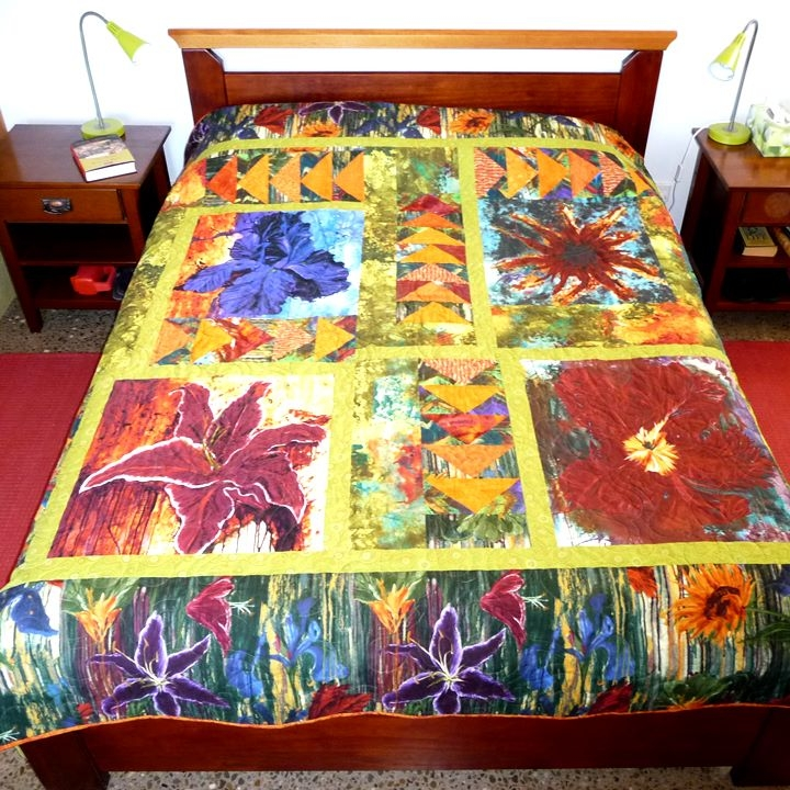 New flower power quilt pattern 9 Cool Large Print Quilt Patterns