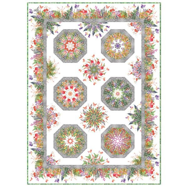 New garden of dreams one fabric kaleidoscope pattern jason 11 Cool One Fabric Quilt Pattern Gallery