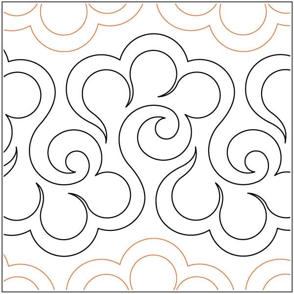New halcyon quilting pantograph pattern lorien quilting 10 Interesting Pantograph Patterns For Quilting