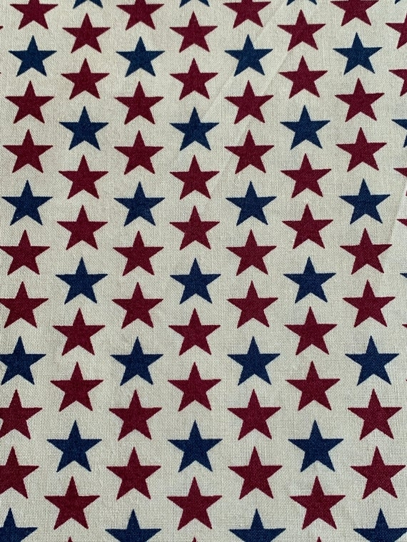 New patriotic packed stars red white and blue vintage inspired patriotic quilting fabric cotton quilting fabric bhy 10   Patriotic Quilt Fabric Inspiration Gallery