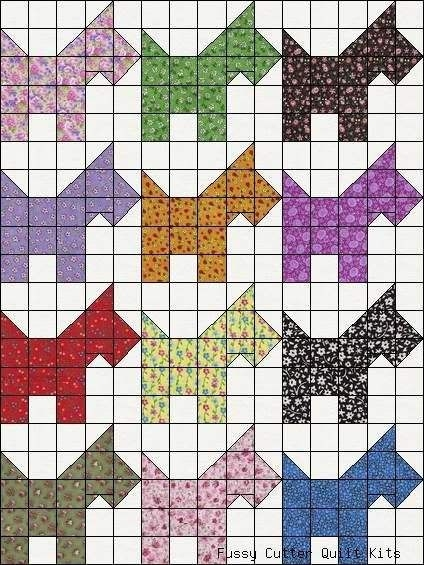 New pin on scottie mania 9 Beautiful Scottie Dog Quilt Pattern Gallery