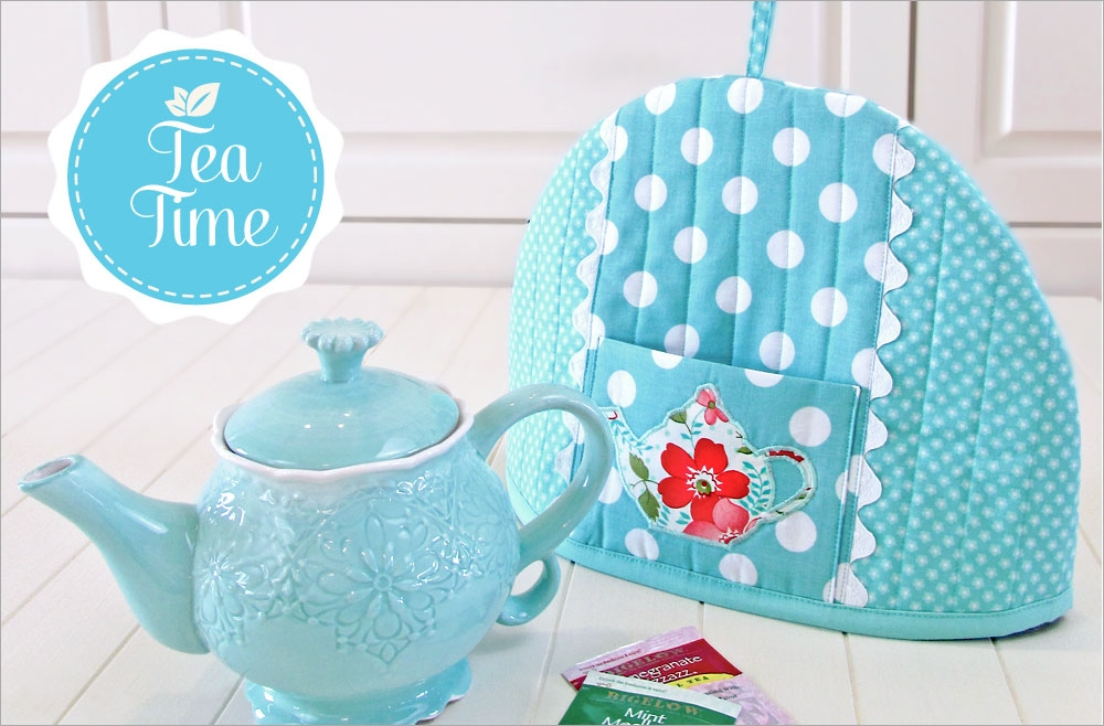 New pretty teapot cozy sew4home 9 Interesting Quilted Tea Cozy Pattern Gallery