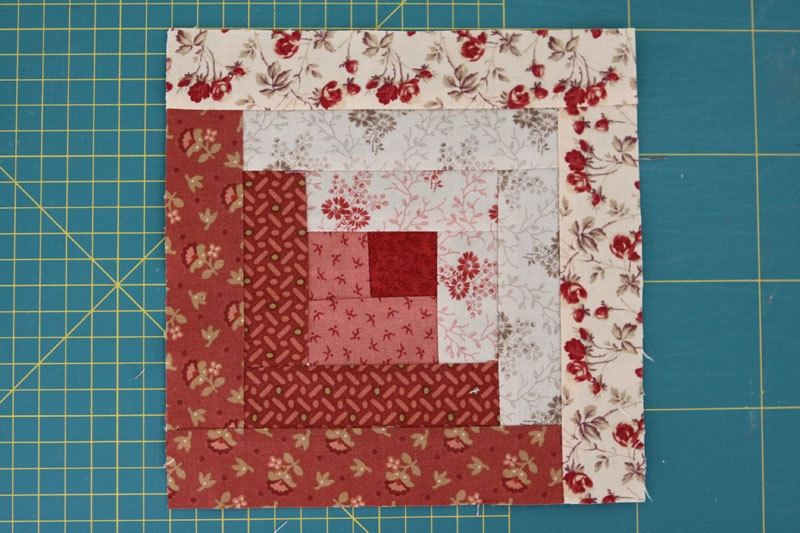 New quilt as you go build your block on the batting method 11 Cozy Quilting Log Cabin Pattern