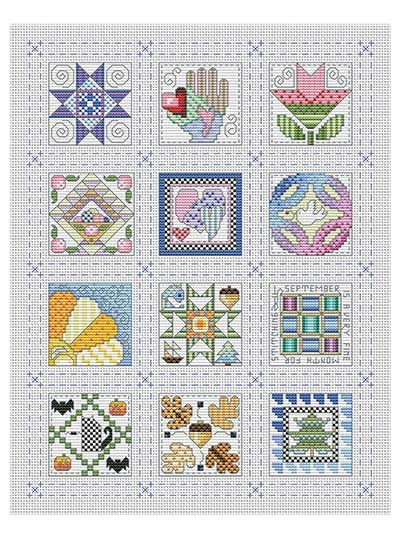 New quilt block of the month cross stitch pattern New Quilt Cross Stitch Patterns Gallery