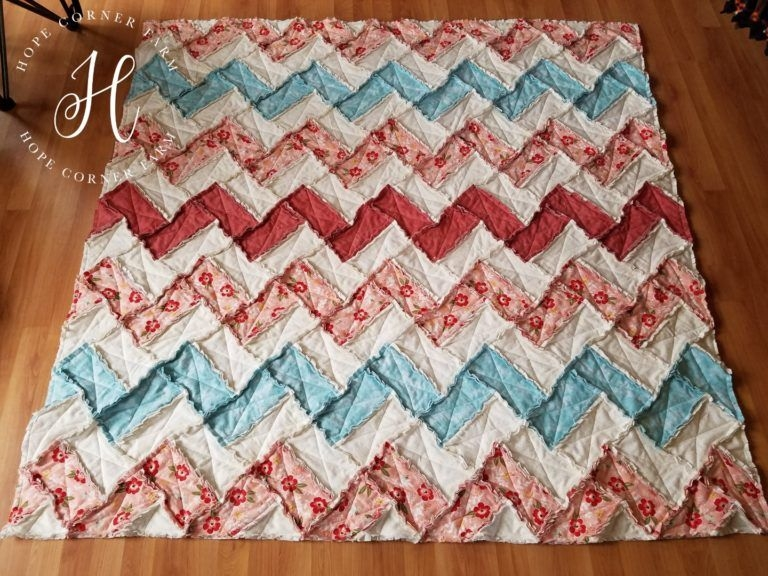 New rag quilt chevron style in 2020 flannel rag quilts rag 9 Cool Chevron Rag Quilt Pattern Inspirations
