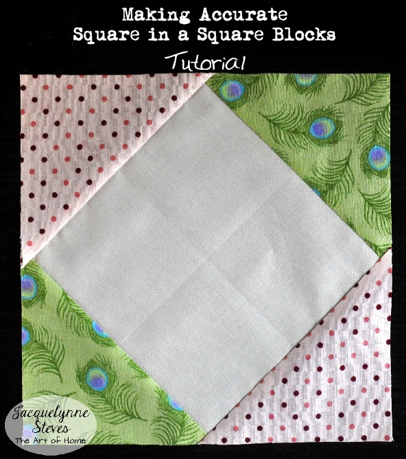 New square in a square block tutorial jacquelynne steves 11 Stylish Square In A Square Quilt Block Pattern Gallery