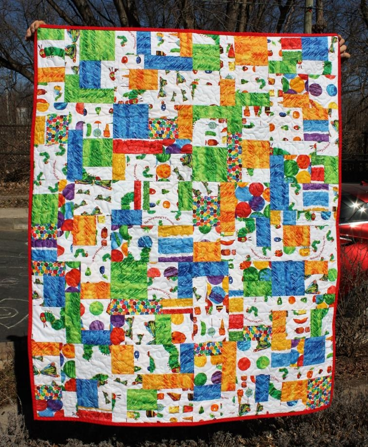 New the very hungry caterpillar quilt bluprint 11 Beautiful Very Hungry Caterpillar Quilt Pattern Gallery