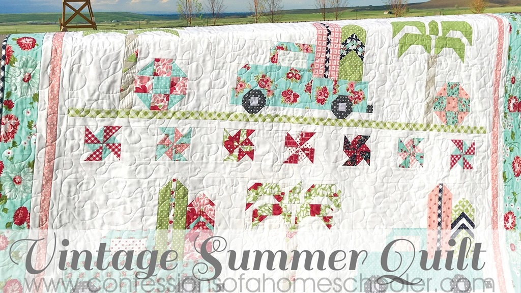 New vintage summer quilt pattern confessions of a homeschooler 11 Interesting Vintage Quilt Kits Gallery