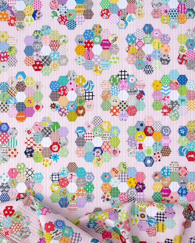 red pepper quilts a scrappy grandmothers flower garden 11 Elegant Grandmothers Flower Garden Quilt Pattern Gallery