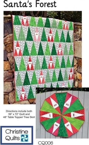 santas forest christmas tree quilt forest quilt tree 11 Unique Quilt Books And Patterns Inspirations