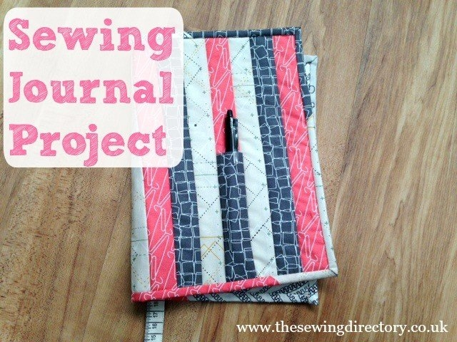strippy book wrap sewing project 10 Modern Quilted Book Cover Pattern