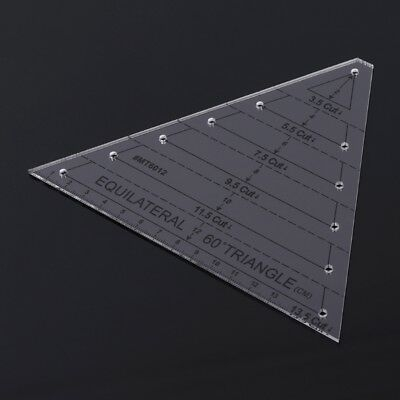 Stylish 135 cut 60 degree equilateral triangle quilting ruler for diy patchwork ebay 9 Cozy Triangle Quilt Ruler Gallery