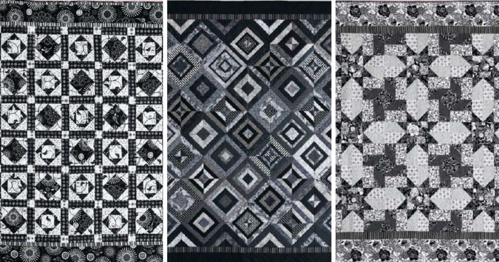 Stylish 3 free black and white quilt patterns quilting daily 9   Quilt Patterns Black And White Gallery