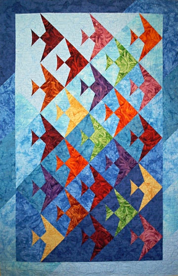 Stylish a quilted ocean of fin fully easy fish lazy girl designs 9 Cozy Lazy Angle Quilt Patterns Gallery