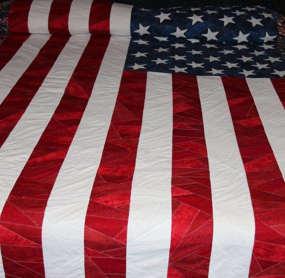 Stylish american flag quilt Modern American Flag Quilt Pattern