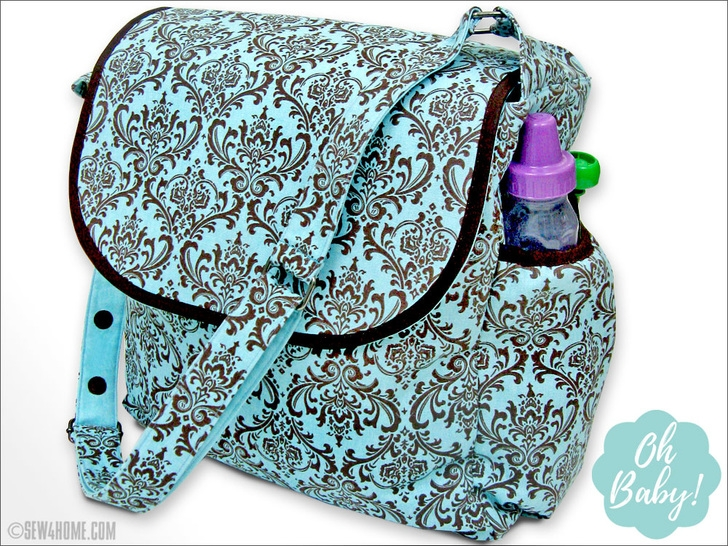 Stylish big beautiful diaper bag sew4home 9 Cozy Quilted Diaper Bag Pattern Gallery