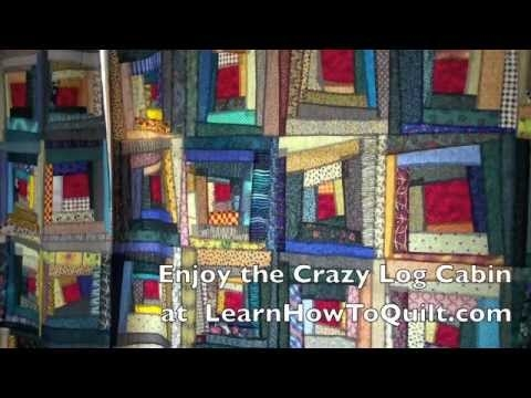 Stylish crazy log cabin intro 1 of 22 videos learnhowtoquilt 11 New Crazy Log Cabin Quilt Pattern